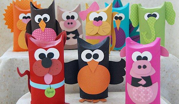 Recyclage de rouleau de papier toilette des animaux - Bricolage rouleau papier toilette animaux ...