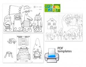 Le petit chaperon rouge : un jeu de découpage coloriage collage et imagination