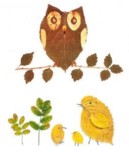 Occuper-les-enfants-en-automne-feuilles-mortes-et-creation-les-poussins