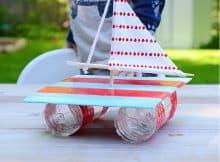 Le bateau fait-maison en recycler !