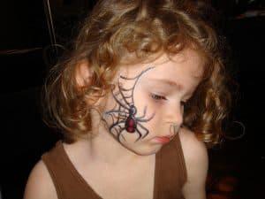 Halloween et le maquillage d'araignée