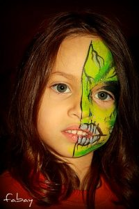 Halloween, le maquillage double face