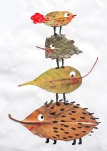 Occuper-les-enfants-en-automne-feuilles-mortes-et-creation-les-oiseaux