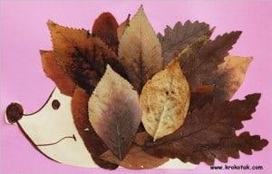 Occuper-les-enfants-en-automne-feuilles-mortes-le-herisson