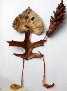 Occuper-les-enfants-en-automne-feuilles-mortes-un-bonhomme
