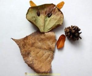 Occuper-les-enfants-en-automne-feuilles-mortes-une-souris