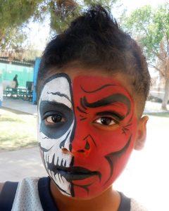 Le maquillage double face pour Halloween