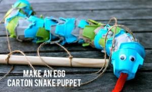 Un serpent en boite à oeuf